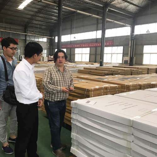 Client from Columbia Visit our Factory